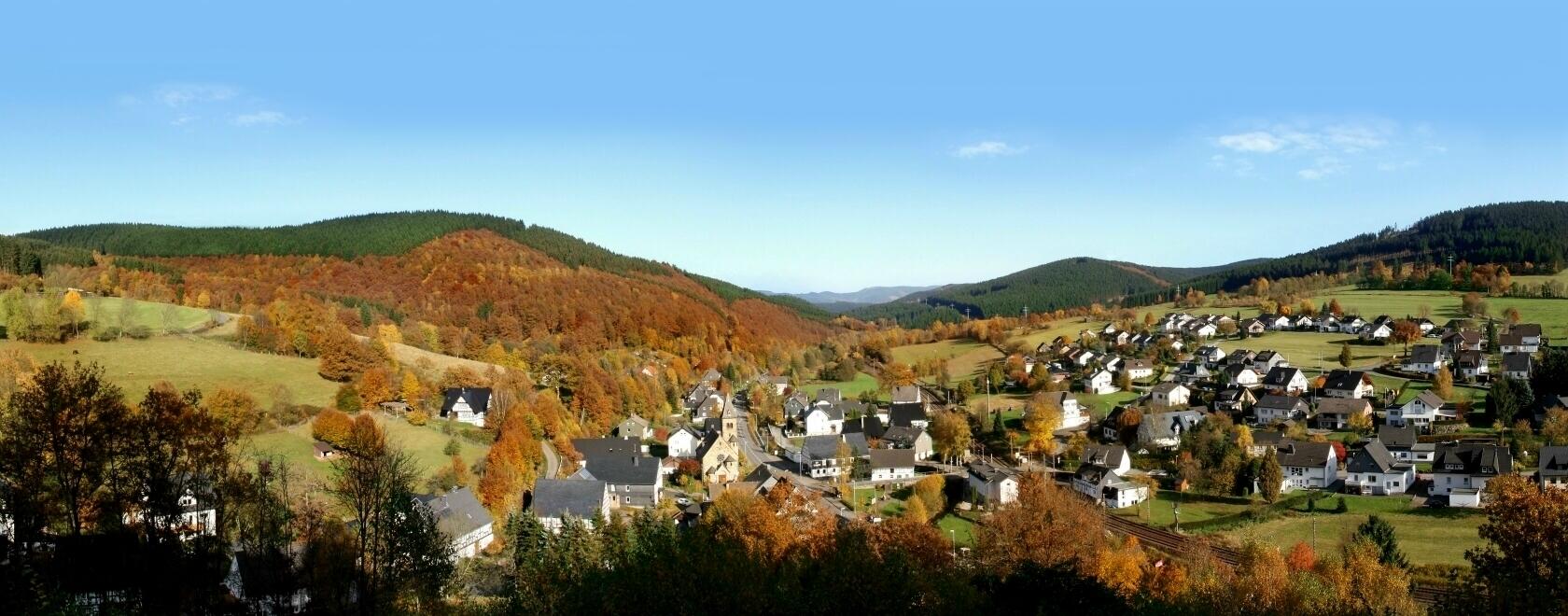 Panorama-Aufnahme Benolpe (Herbst 2012)