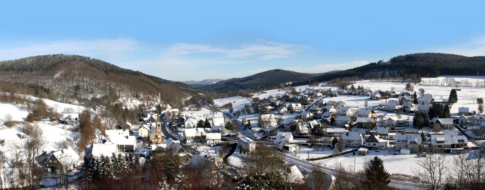 Panorama-Aufnahme Benolpe (Winter 2012)